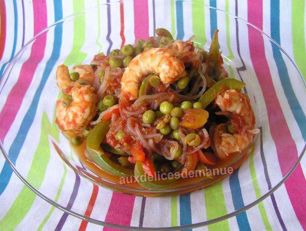 konjac aux légumes et crevettes -LIGHT-