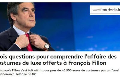 Fillon : il y en a qui lui taillent un costard ! Son tailor is rich ?
