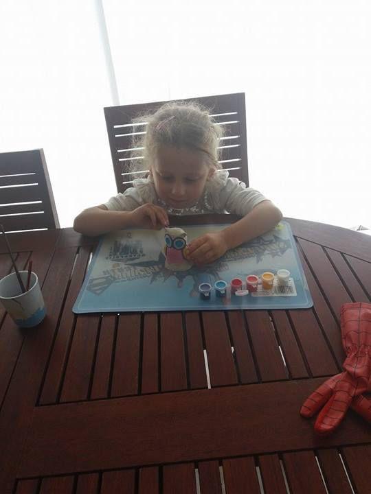 Moulage et peinture - chouette - SES CREATIVE- Activité manuelle créatives pour enfants