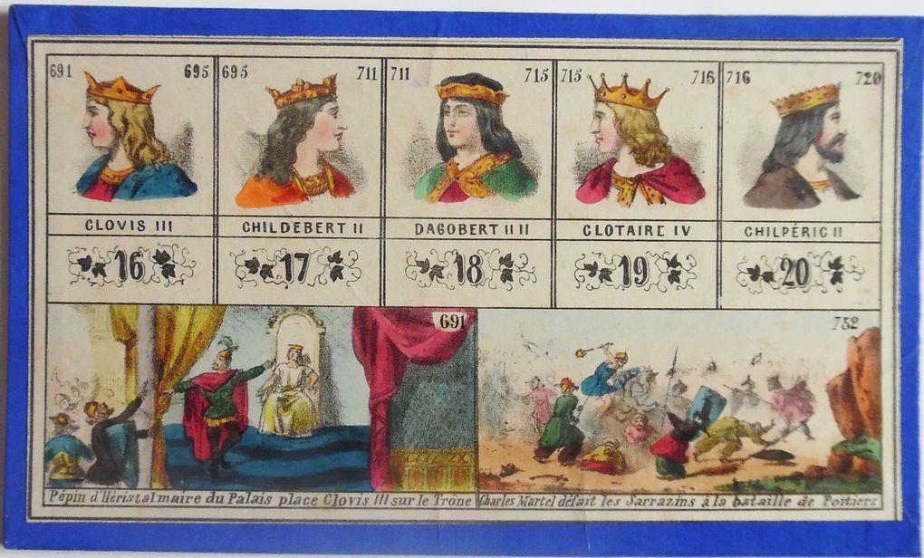 loto Histoire de France, cartons 1 à 6