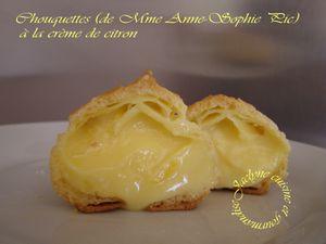 Chouquettes (de Mme Anne-Sophie Pic) à la crème de citron Jaclyne www.cuisineetgourmandise.fr