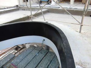 L'oeil de la piscine assemblage d'aluminium blanc et noir
