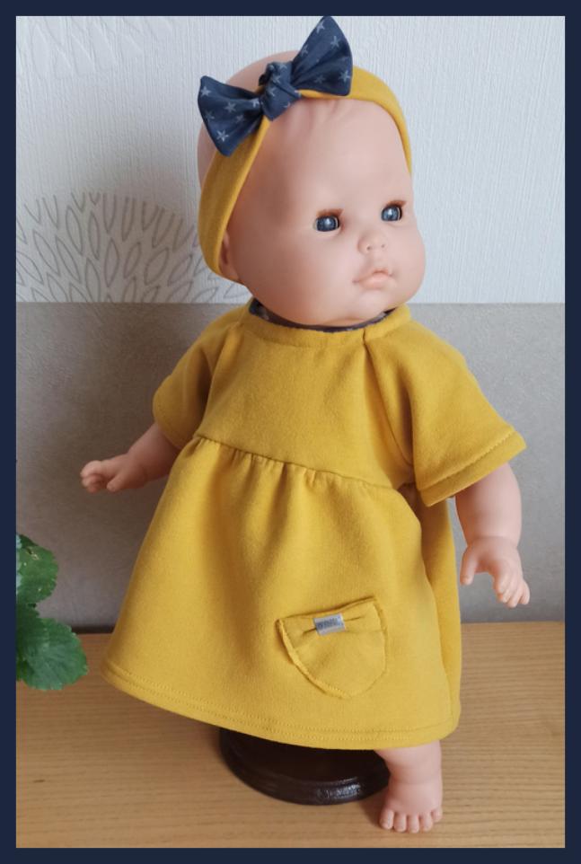 Patron et tutoriel gratuit robe pour poupée 36 cm