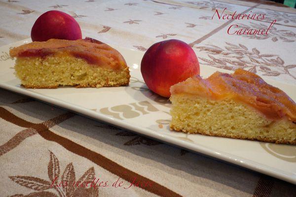 gâteau nectarines façon tatin