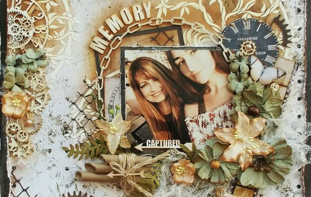 Mixed media layout tutorial-How to make a mixed media scrapbook layout-Memory Captured by Gabrielle Pollacco