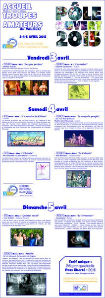 week-end culturel au Trac les 3, 4 et 5 avril, 9 compagnies présentent leur spectacle !