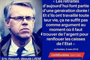 Le mépris d'un député La République en Marche (LREM) pour les retraités !