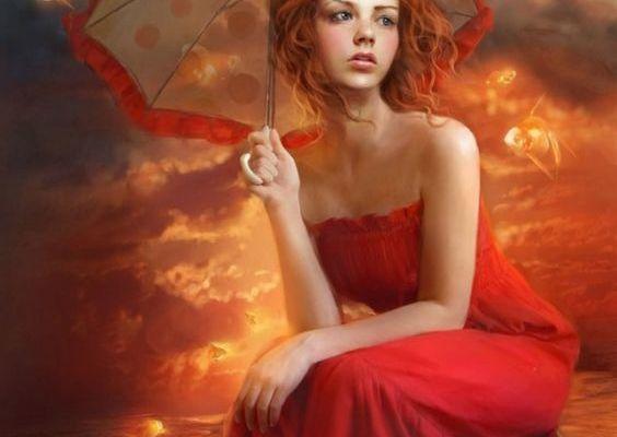 Robe rouge...