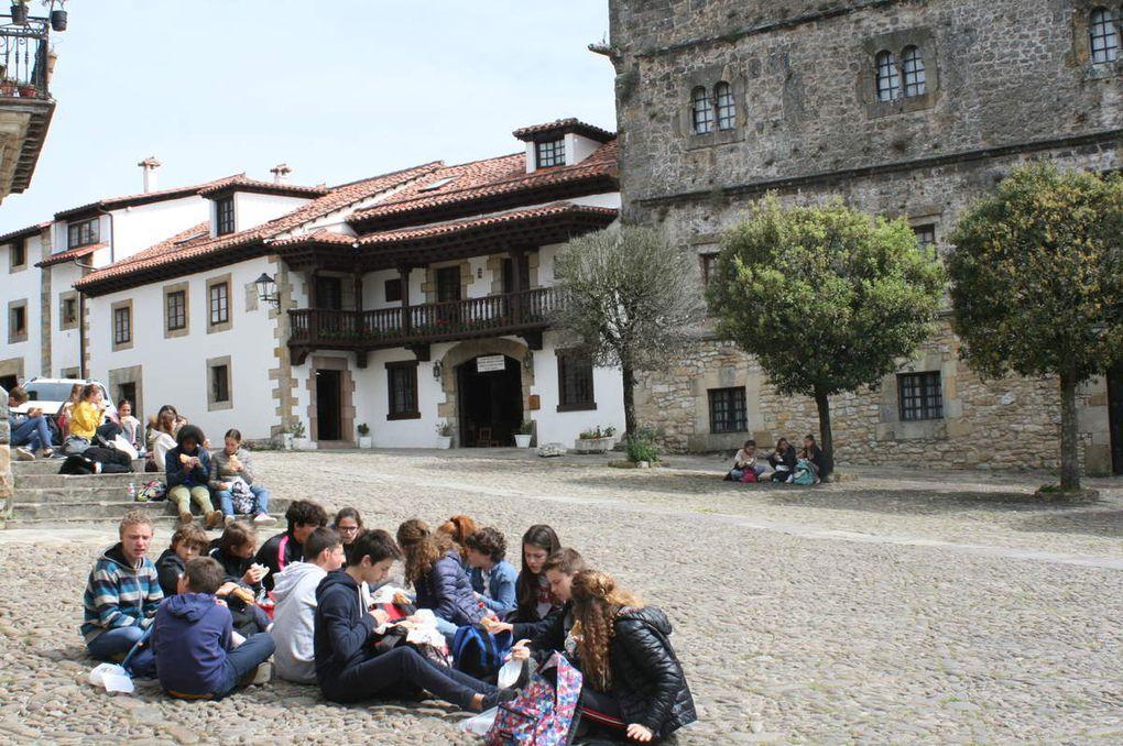 Découverte du pittoresque village médiéval de Santillana del Mar et visite de sa collégiale.  Avis unanime : la gastronomie espagnole est très appréciée.  Shopping dans les boutiques de souvenirs et route vers Comillas.