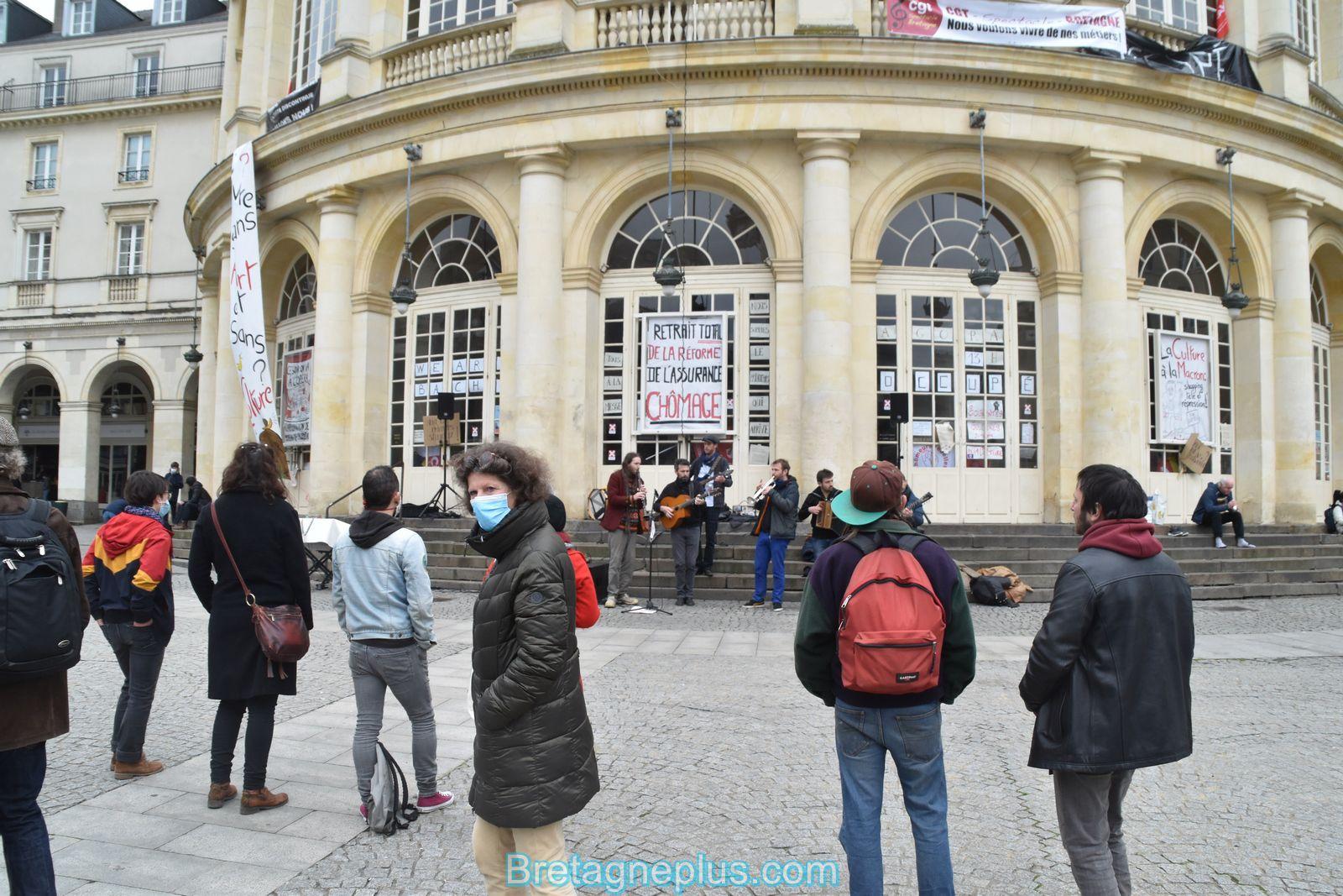 Occupation de l' Opéra de Rennes