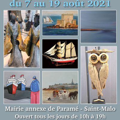 Saint-Malo - retrouvez mes tableaux avec Le Groupe des peintres malouins à la mairie annexe de Paramé