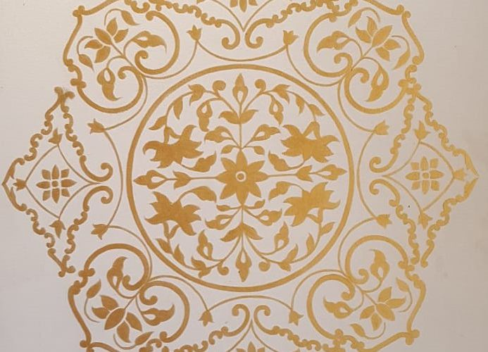Gold Leafing Gilding Art For Modern Arabic Villa Architectural Design Dubai