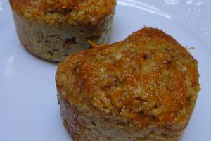 Muffins diététiques à l'orange et au gingembre