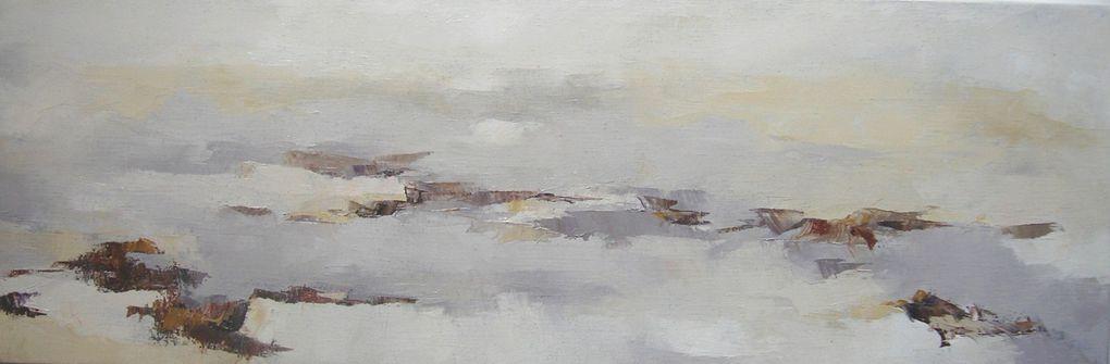 Reflets ..huiles sur toiles 2005/2009 Lumières d'estran... 2011 Une quinzaine de toiles dont quelques unes présentées ici...de nouvelles pièces en préparation pour 2012 dont deux grands formats 195x130