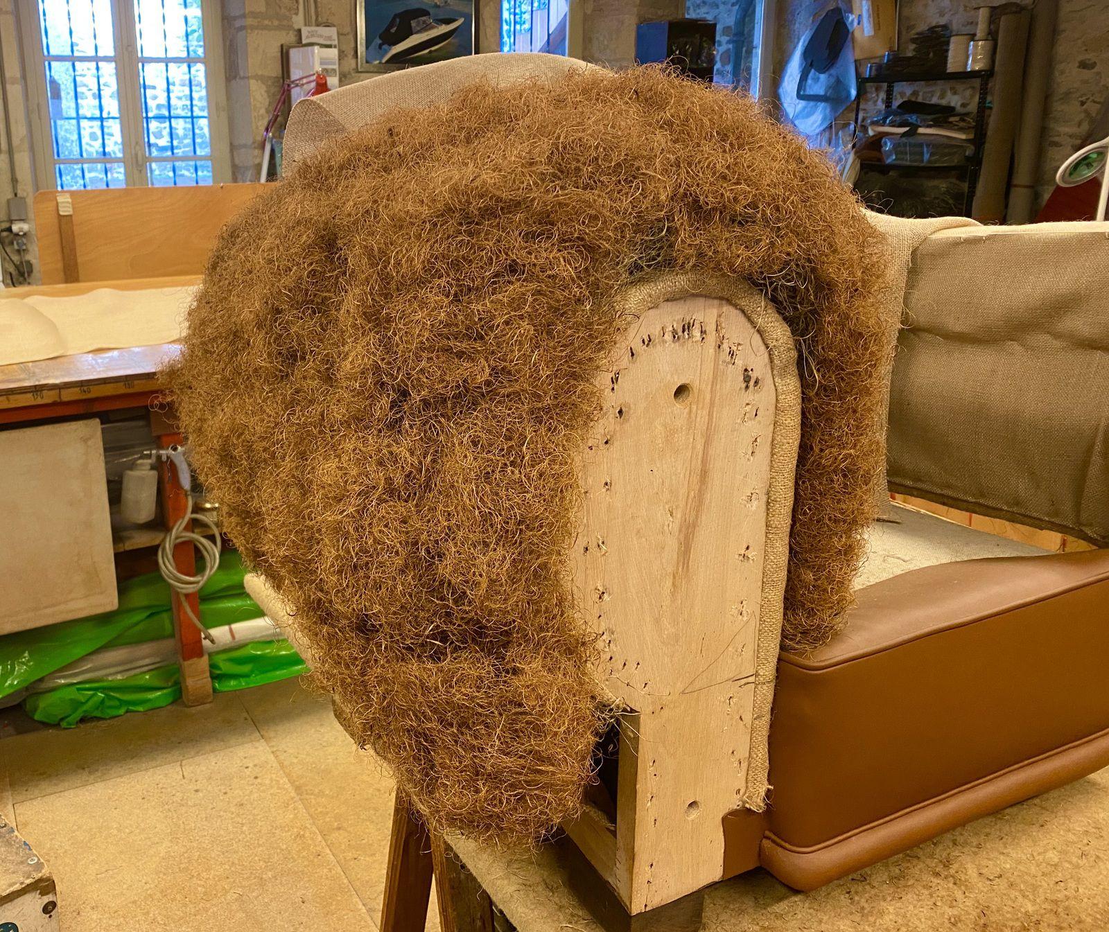 Réfection fauteuil Club - Atelier hafner tapissier sellier