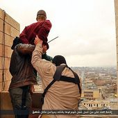 Thrown from a roof, stoned to death and crucified: While the world reacts with horror to terror...
