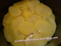 pommes de terre au reblochon, pavé d'affinois et jambon