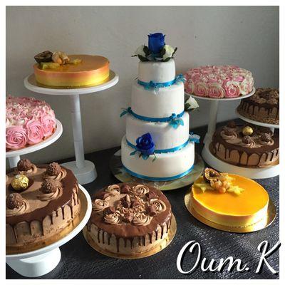 Commande mariage wedding cake et pieces montée d'entremets