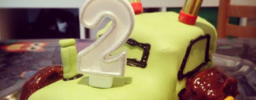 Recette du gâteau d'anniversaire tracteur de ses 2 ans