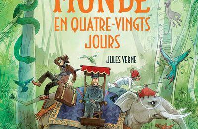 Le tour du MONDE en quatre-vingts jours. Jules VERNE. Editions Usborne – 2018 (Dès 8 ans)