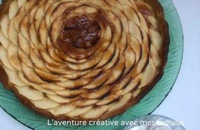 Tarte pommes/caramel beurre salé et chantilly maison