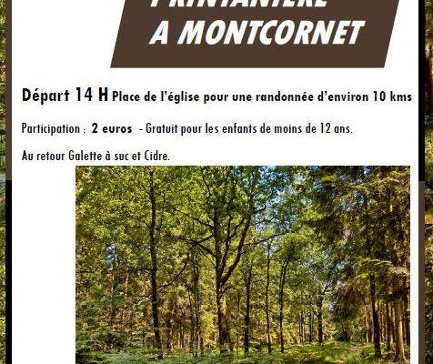 Montcornet : Marche Printanière le Samedi 2 Avril 2016
