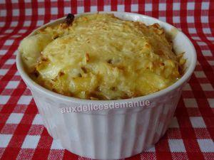 gratin de pâtes aux champignons, raclette et jambon(cuisine des restes)