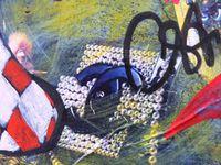SANS UN NUAGE, techniques mixtes sur toile, 80x65cm