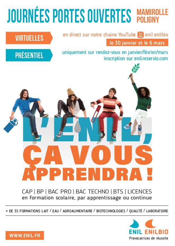 L'adaptation et l'innovation sont les maîtres-mots des ENIL de Bourgogne Franche-Comté, une nécessité aussi pour nos journées portes ouvertes 2021