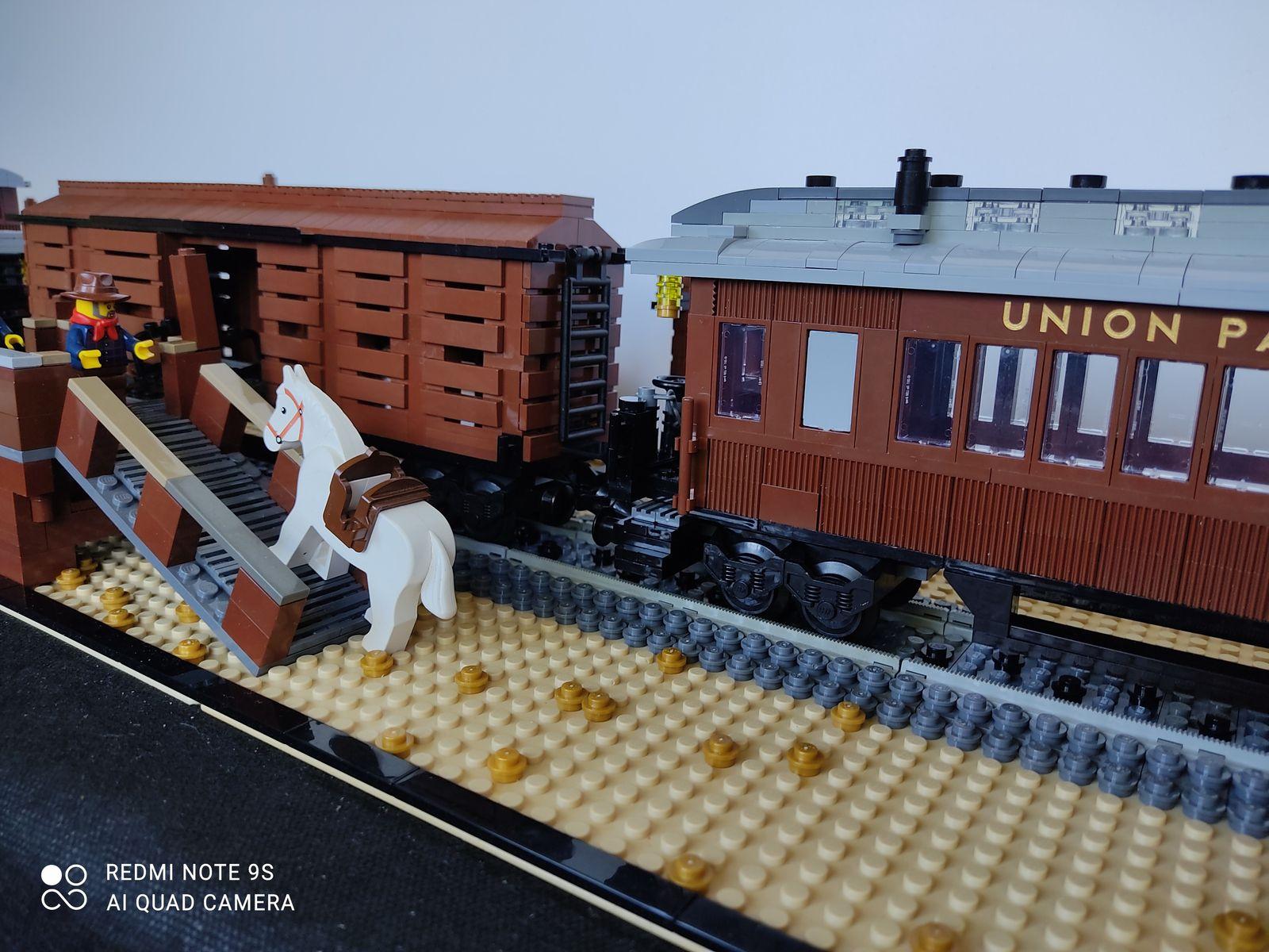 Train d'Union Pacific d'Ouest en Est