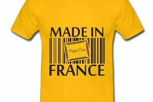 T shirt jaune homme Humour petit con Made in France