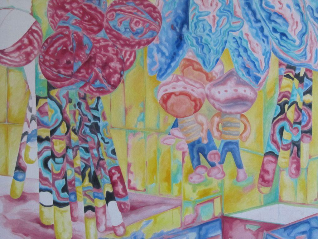 peinture a l huile sur toile 60 x 85 cm