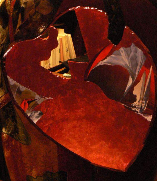 Grand vase Rouge et Noir