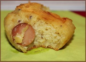 Muffins knacks et moutarde à l'ancienne