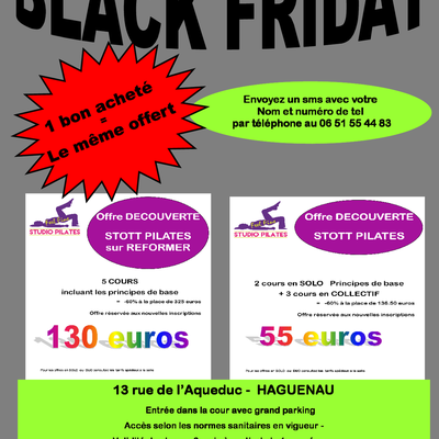 BLACK FRIDAY du 27/11 au 03/12/2020