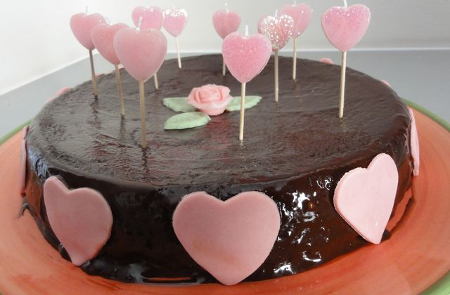 Love at first sight... {gateau et bougies coeur}