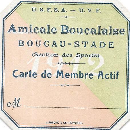 AMICALE BOUCALAISE. BOUCAU STADE (section sport).