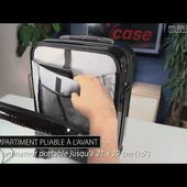 VALISE TROLLEY 30 L - port usb - compartiment appareil multimédia - [PEARLTV.FR]