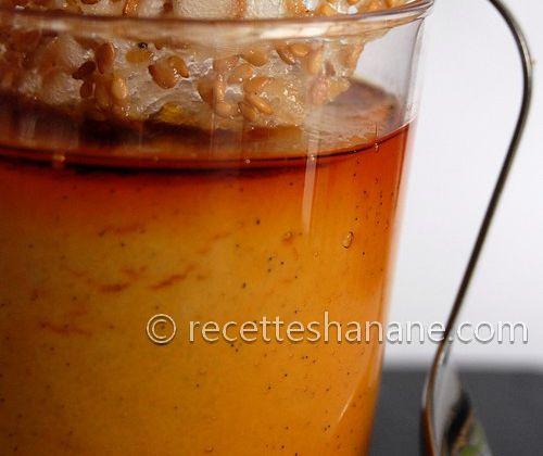Verrines de crème de semoule & tuiles aux graines de sésame