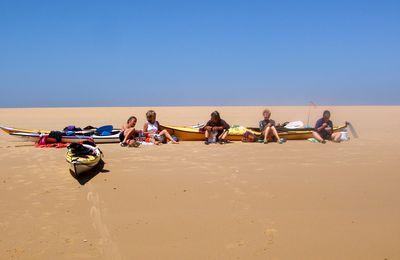 Les sorties en kayak de mer de lundi 23 et mercredi 25 sur le Bassin d'Arcachon