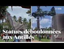 Deux nouvelles statues déboulonnées en Martinique