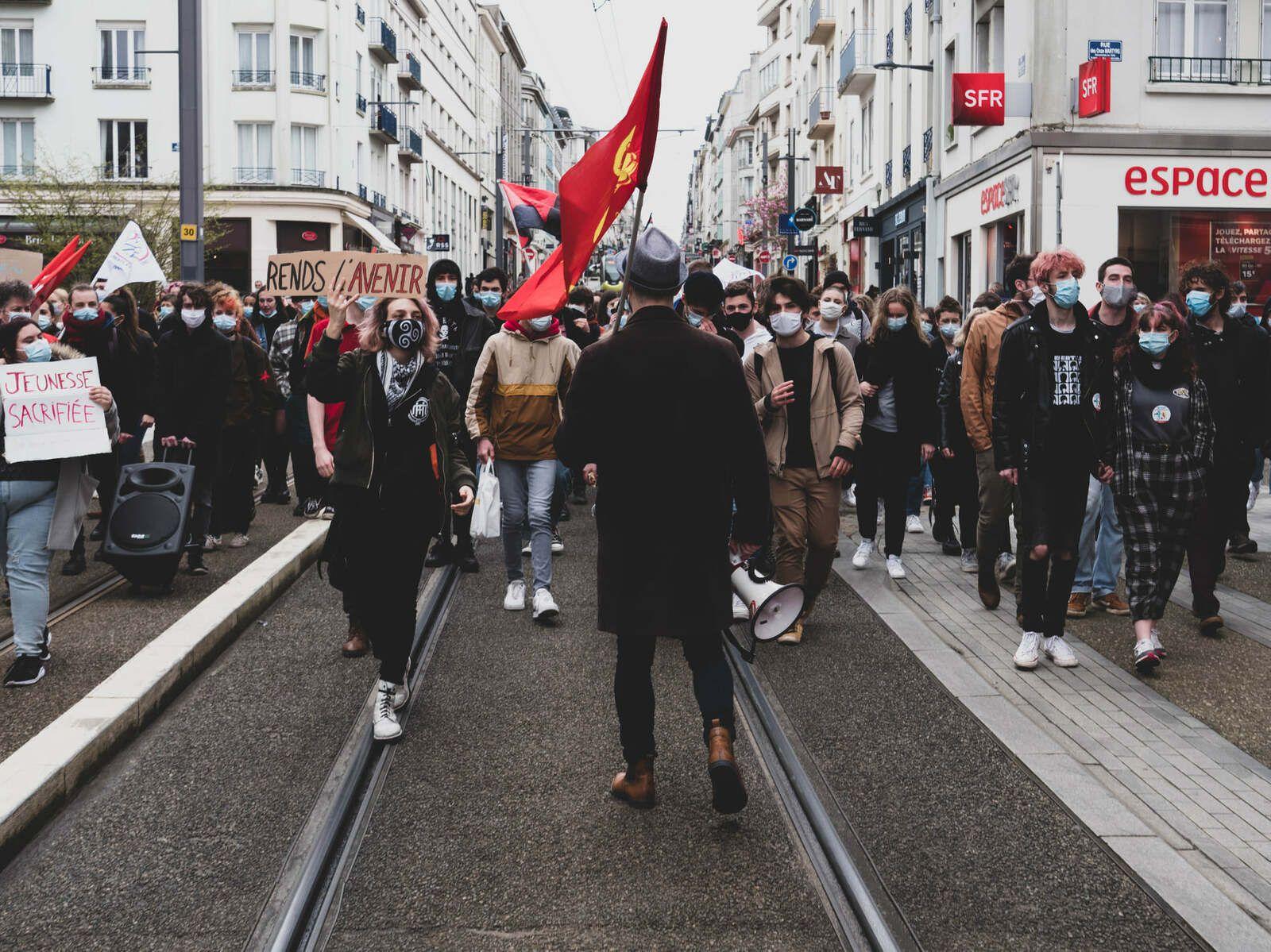 Manifestation de la jeunesse à Brest ce 16 mars 2021