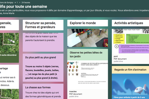 """Padlet """"minis défis pour une semaine"""" chez Nanou, Amélie et Nicolas"""