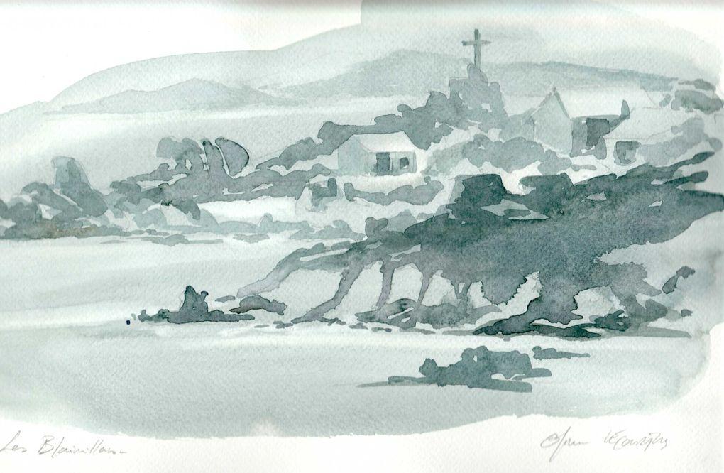 """Aquarelles marines """"classiques""""...petits formats ..disponible dans les cartons à l'atelier"""