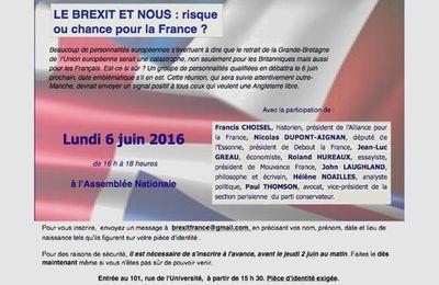 Table ronde sur les enjeux du référendum britannique - Par  SIEL