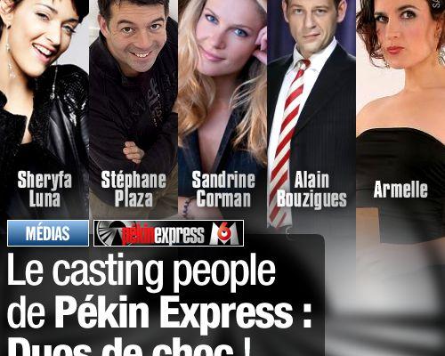Le casting people de Pékin Express : Duos de choc !