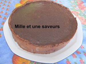 Flan pâtissier au chocolat réalisé au thermomix