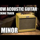 Slow Acoustic Guitar Backing Track In C Minor Eb Major