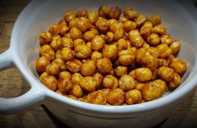 Pois chiches grillés au paprika et curry