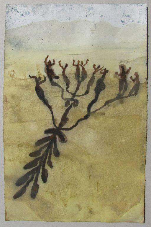 Cette série exposer à l'ISEND 2011 est entiuniquement faite de couleurs végétales